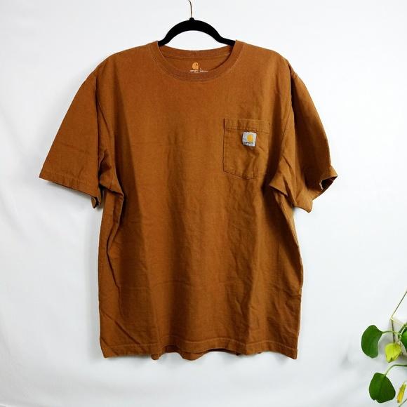 04198cd5321 Carhartt Men s Workwear Brown Pocket T-Shirt
